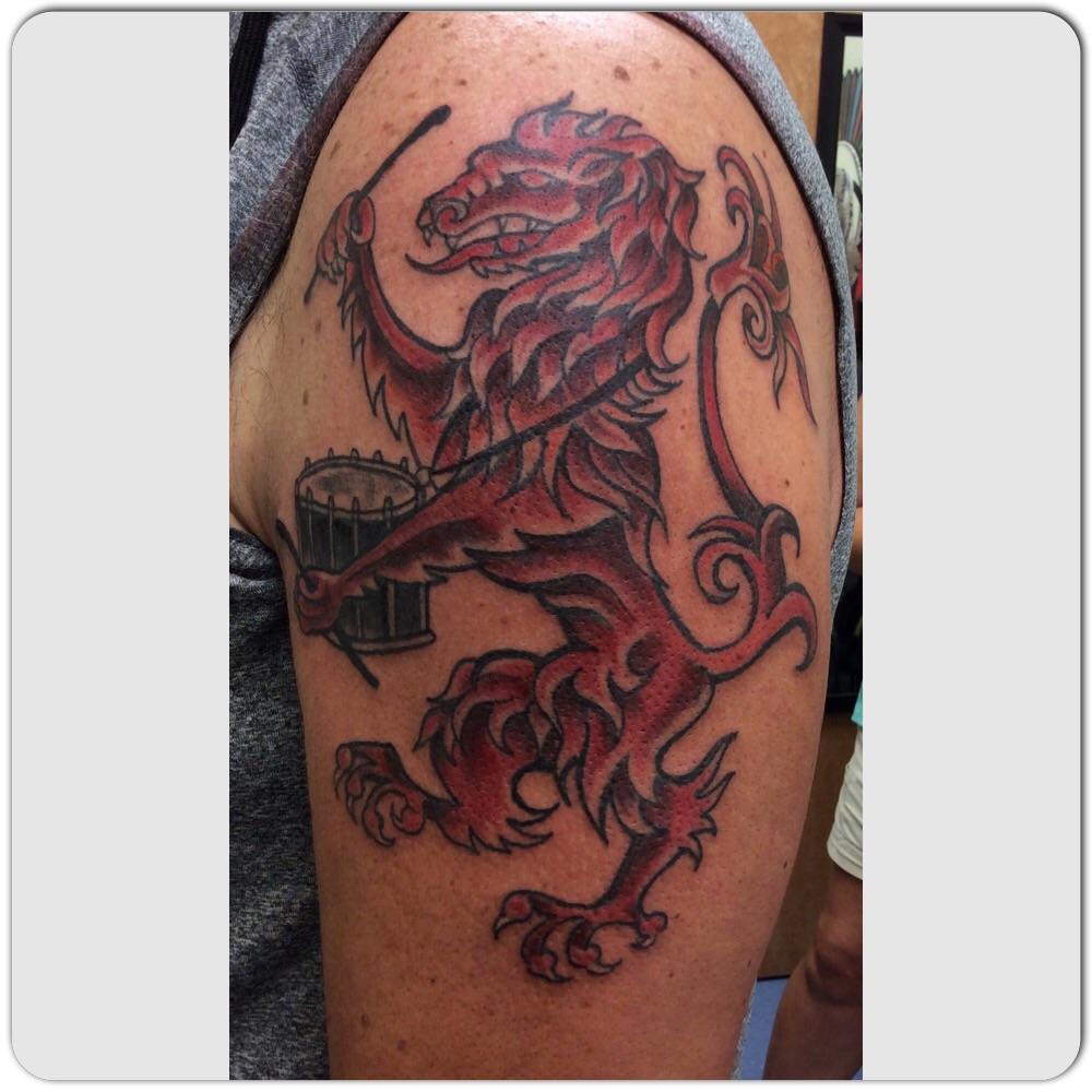 Scottish Lion Tattoo: Frederick, MD: Talon Studio Tattoo