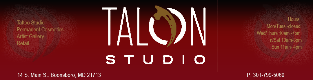 Frederick, MD: Talon Studio Tattoo